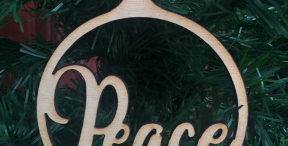 Peace Wooden Ornament