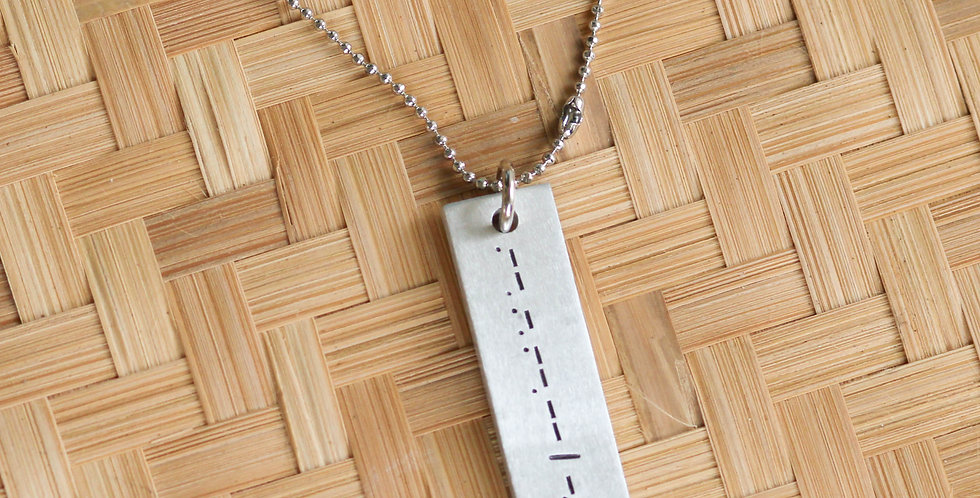 """Pray Big"" Morse Code Metal Necklace"