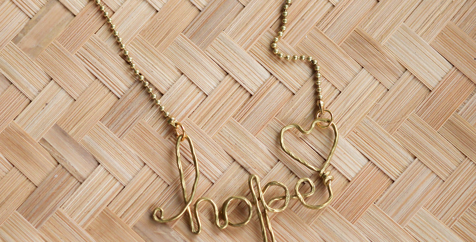 Hope Wire Necklace