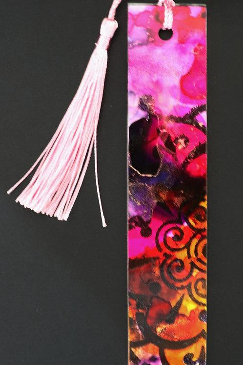 Marque page rose et orange 1