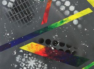 Snow, tableau abstrait élégant