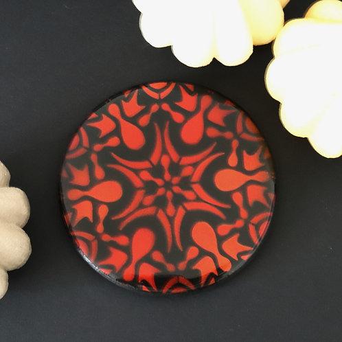 Dessous de verre mandala 2 rouge