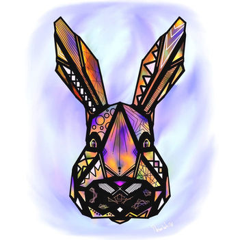 dessin lapin origami