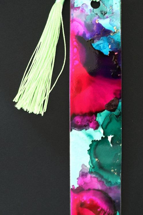 Marque page rose et vert 1