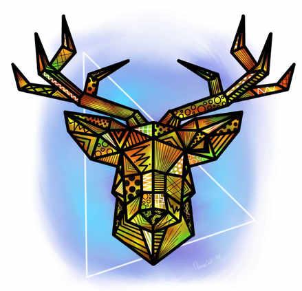 Cerf origami