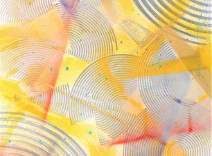 No reira, tableau abstrait jaune, lumineux