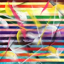 Tableau carré abstrait acrylique