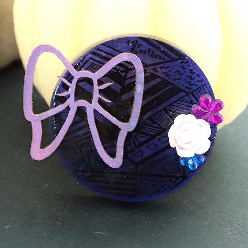 Magnet noeud violet