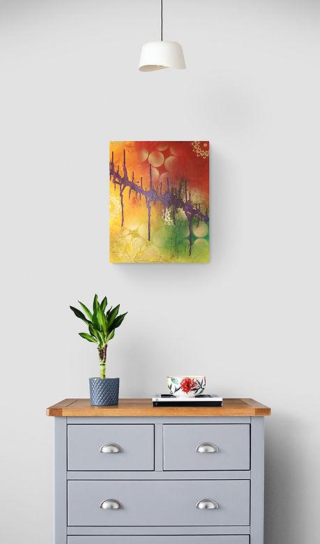Tableau abstrait coloré original