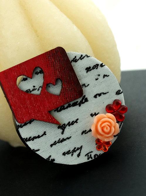 Magnet lettre/coeur