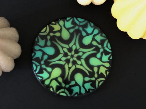 Dessous de verre mandala 2 vert