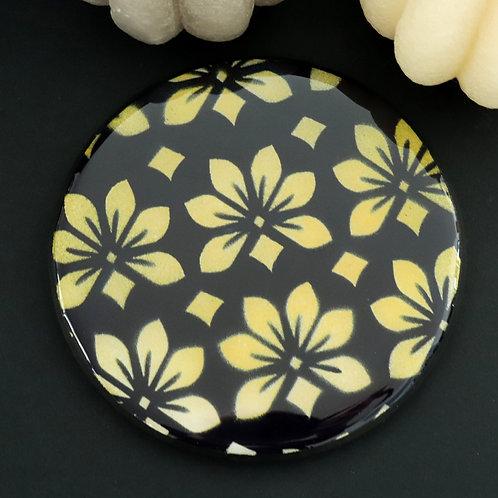Dessous de verre fleurs jaune pâle