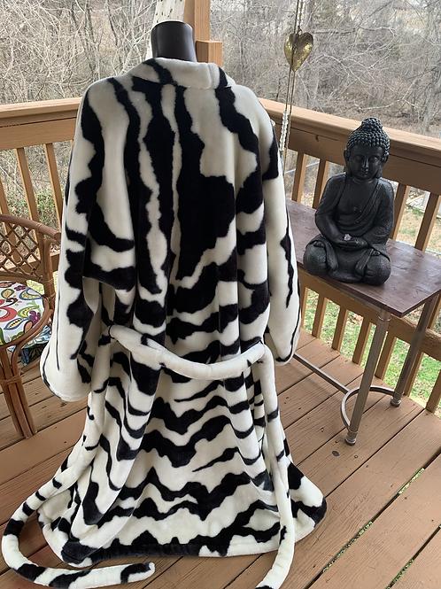 Faux Fur throw coat/robe
