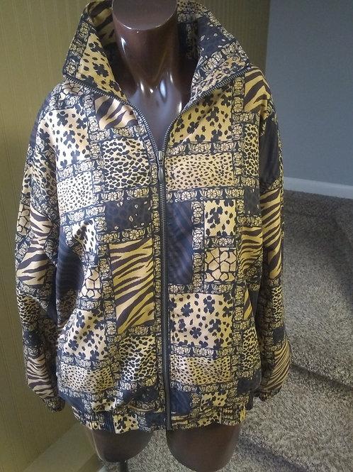 Vintage safari print bomber jacket (L)