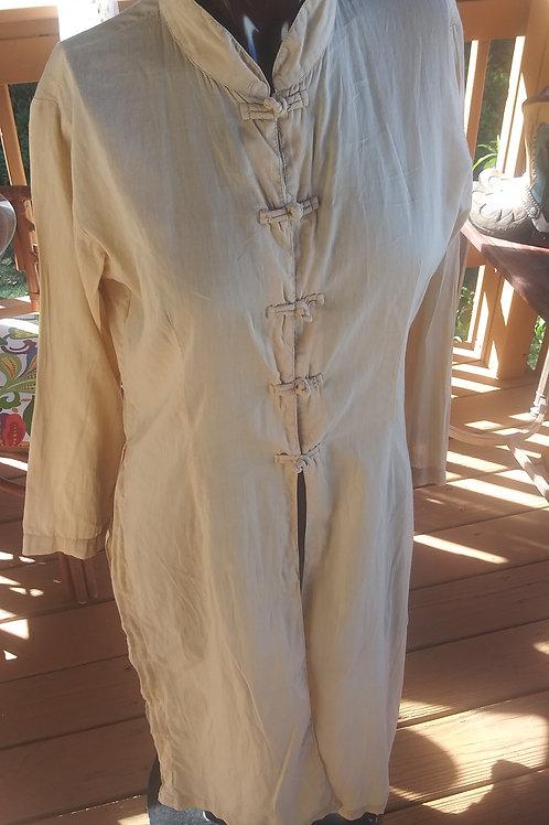 Vintage long Asian style duster/blouse (M)