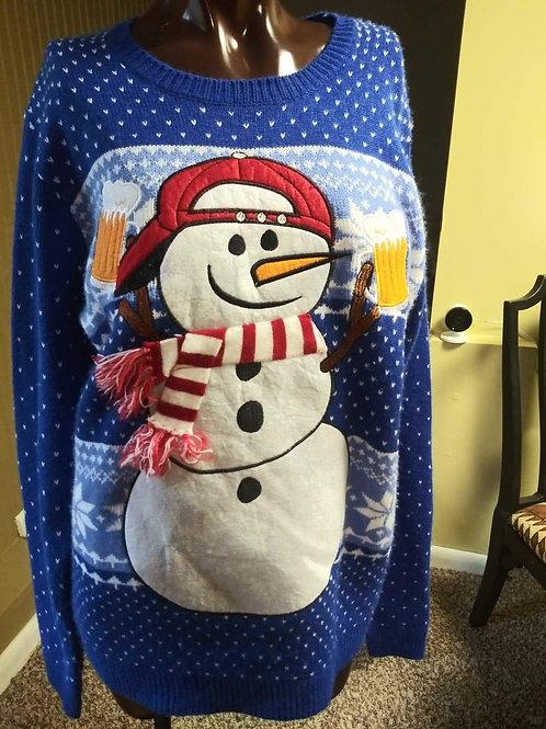Vintage snowman sweater (M/L)