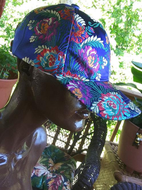 Oriental style satin ball cap