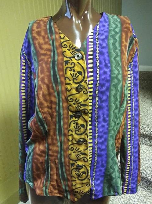 Vintage tribal print blazer (L)