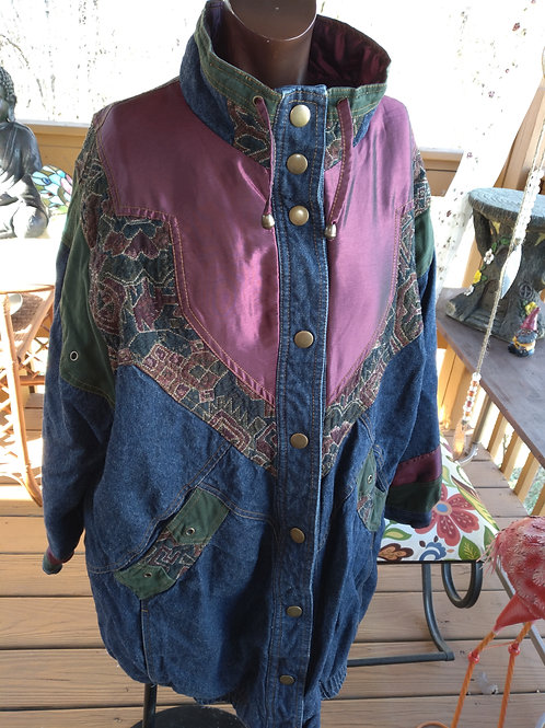 Vintage denim coat (XL)
