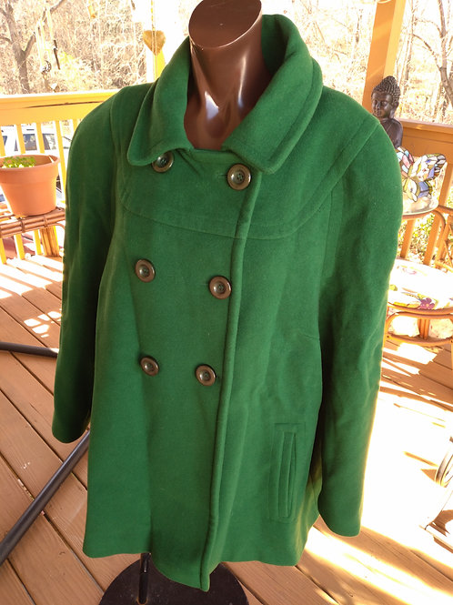 Green vintage peacoat (XL)