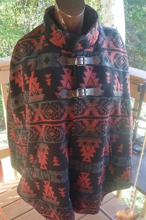 Aztec print cape (L)
