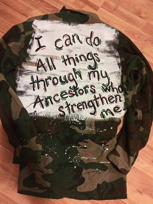 Handpainted camo jacket