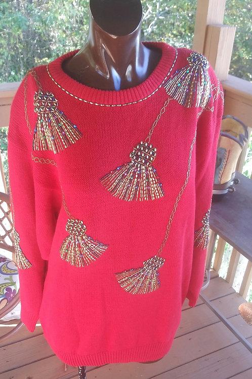 Vintage oversized holiday sweater (M)