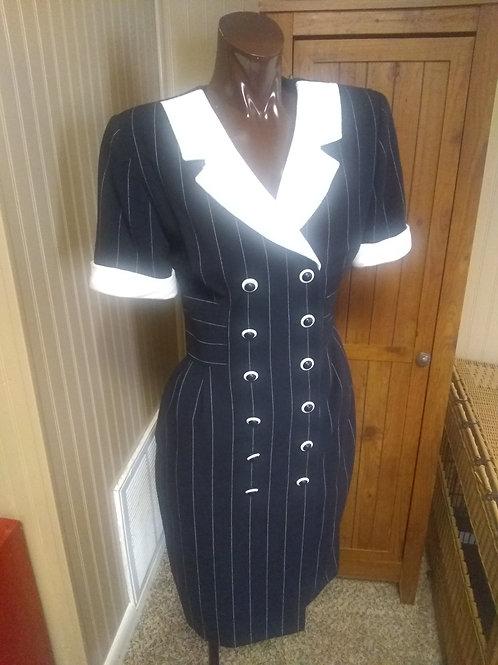 Vintage black & white dress (S)