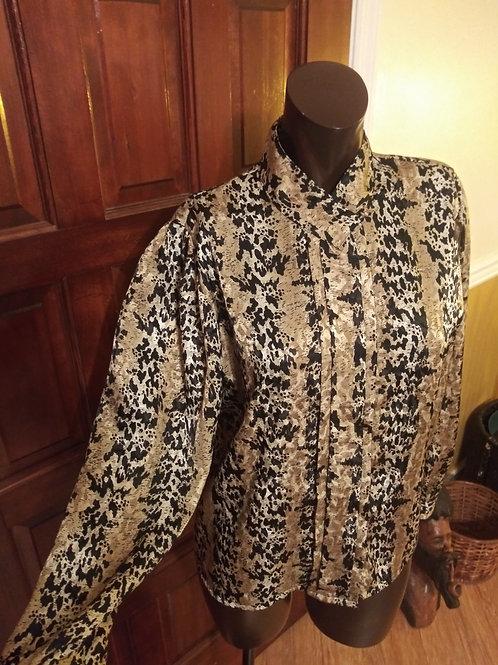 Vintage animal print blouse (S)