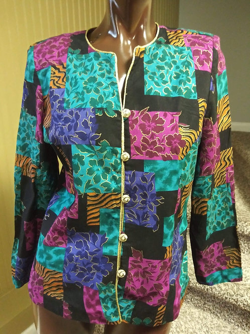 Vintage multi print blazer (M)