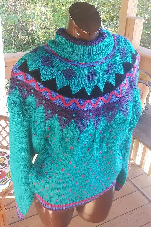 Vintage fun Fiesta sweater (M)