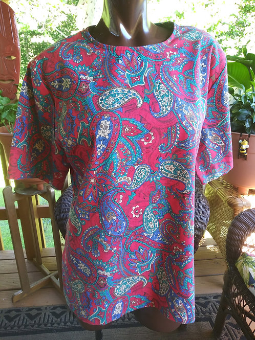 Vintage paisley print blouse (M)