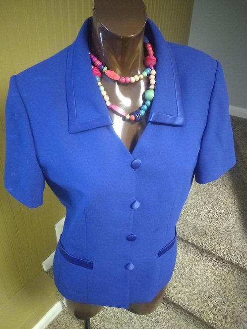 Vintage short sleeve blazer (M)