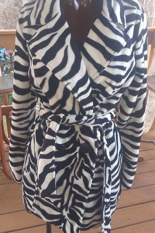 Zebra print peacoat  (M)