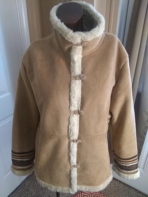Vintage faux suede coat (M)