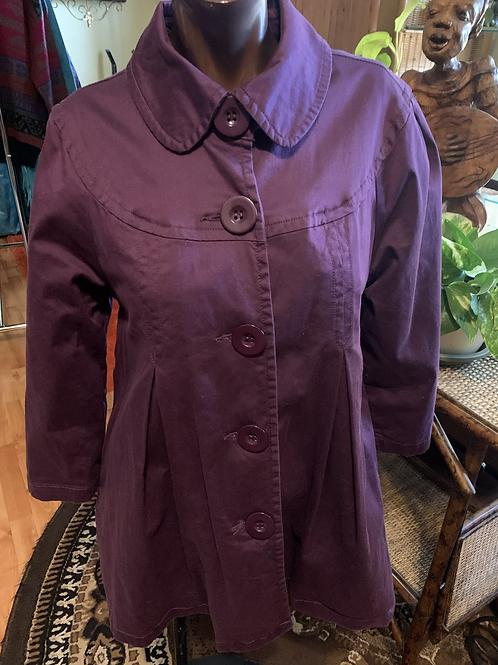 Vintage purple peacoat (M)