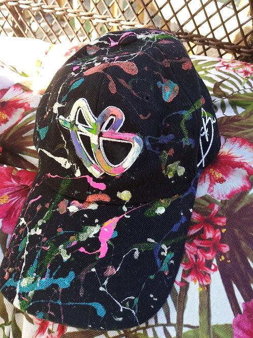 Vintage paint distressed Fubu hat