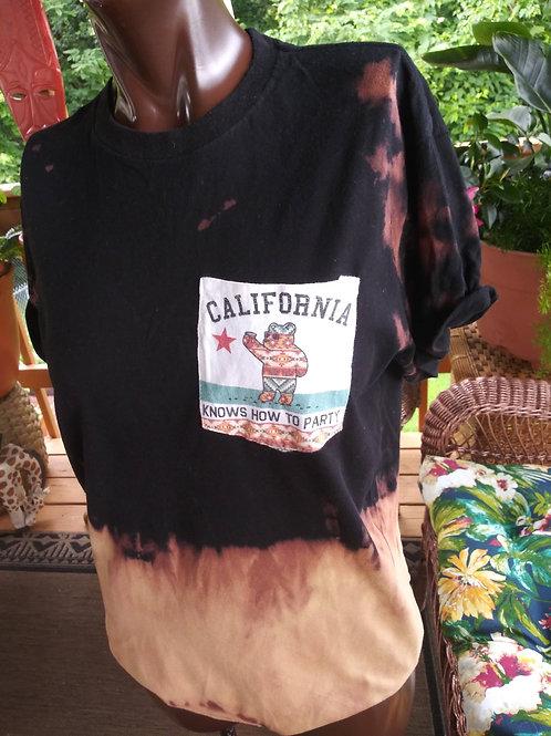 Bleached Cali tee (M)