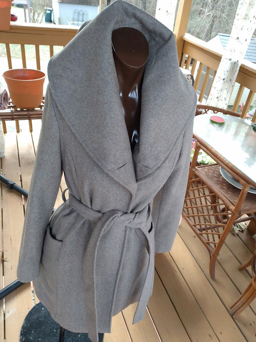 Taupe colored peacoat  (S)