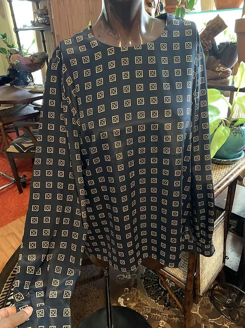 Vintage print blouse (L)