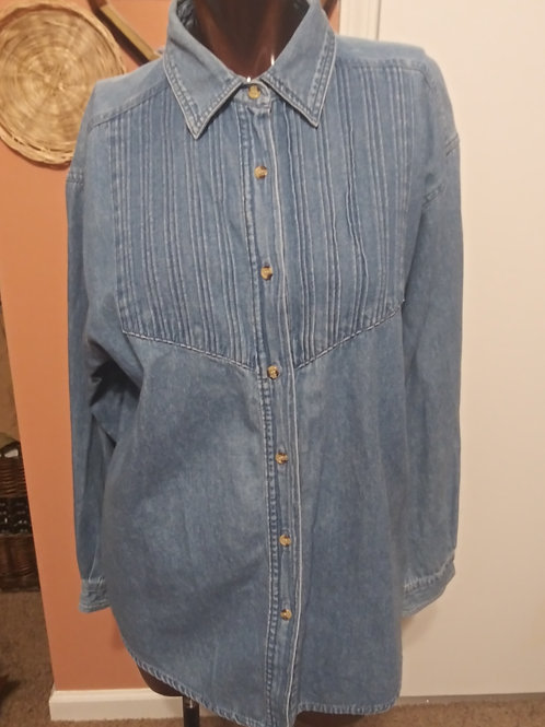Vintage denim blouse (M)