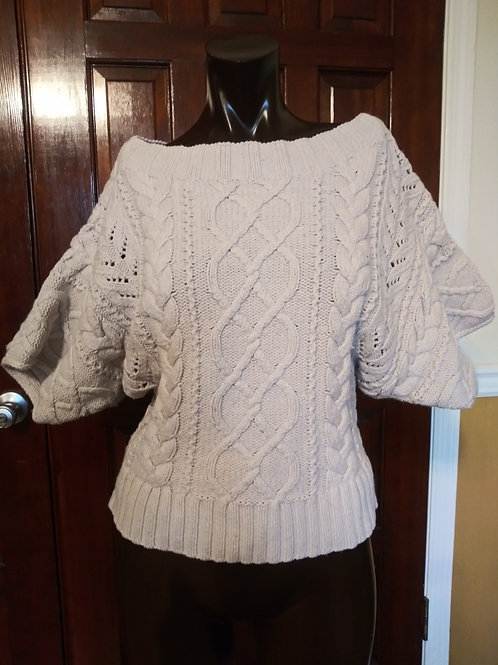 Cream colored short sleeve sweater (S)