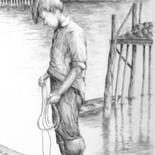 Boy on Dock by Mark Copple