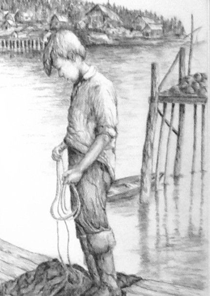 Boy on Dock by Mark Copple