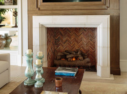 Belvedere Wood Fireplace Herringbone