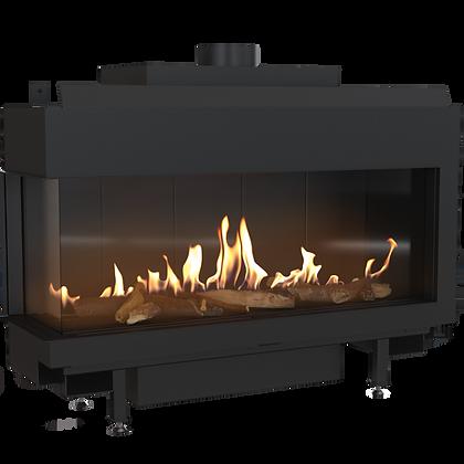 LEO 100 Left Gas Fireplace