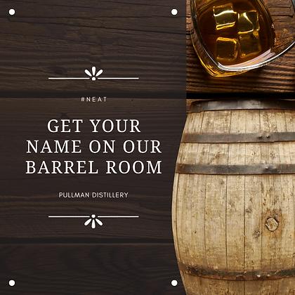 Pullman Distillery Barrel Room Facebook.