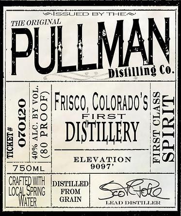 Pullman Frisco Distillery Label