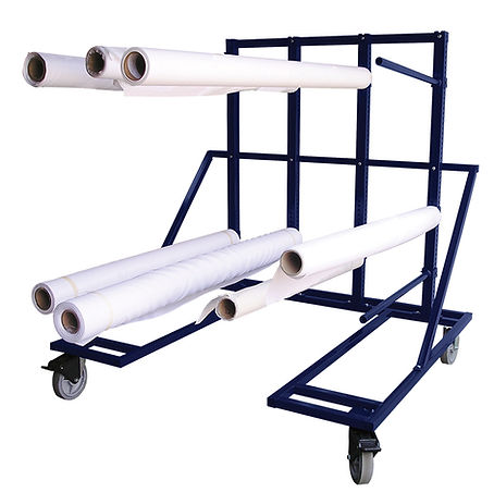 130 Roll Storage Rack Cart AIT