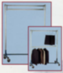 MODEL Z 164 Double Rail Garment Rack